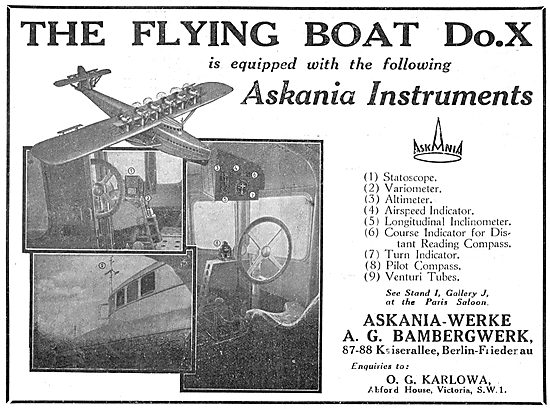 The Dornier Do.X Is Equipped With Askania Flight Instruments