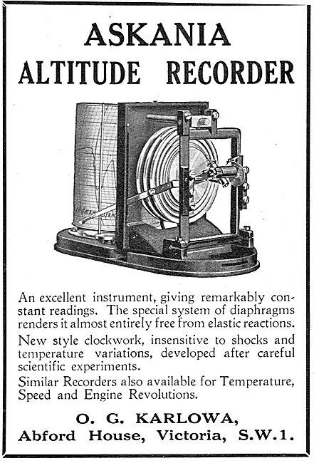 Askania Altitude Recorder