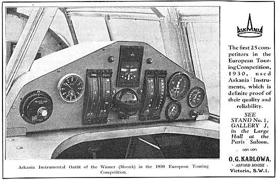 Askania Aircraft Flight Instruments