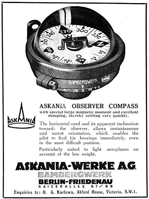 Askania Instruments - Askania Observer Compass 1930