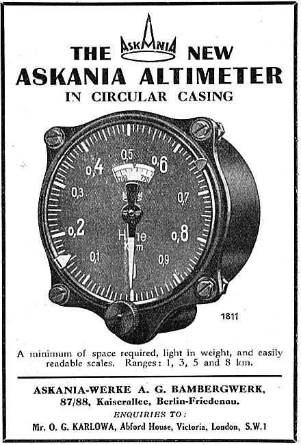 Askania Aircraft Altimeter