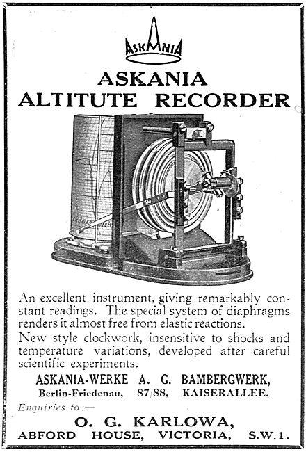 Askania Aircraft  Altitude Recorder