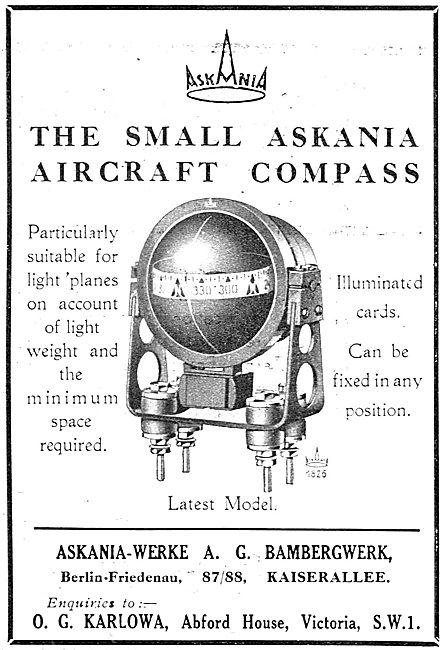 Askania Aircraft Compass