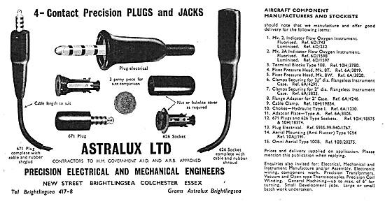 Astralux Avionics Plugs & Jacks