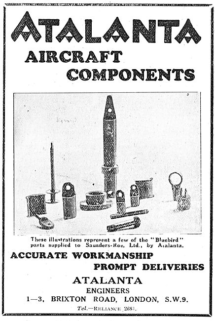 Atalanta Engineers, Brixton Rd. Aircraft Component Manufacturers