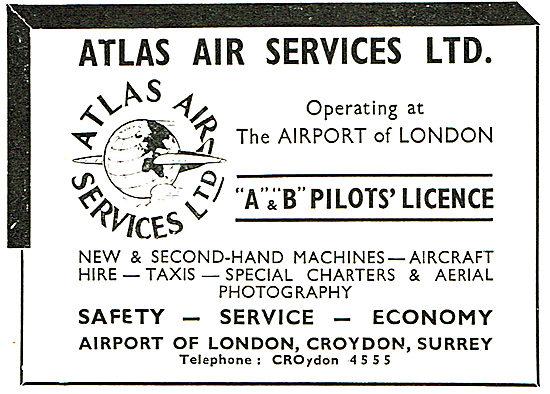 Atlas Air Services - Croydon. Training For Pilot's A & B Licences