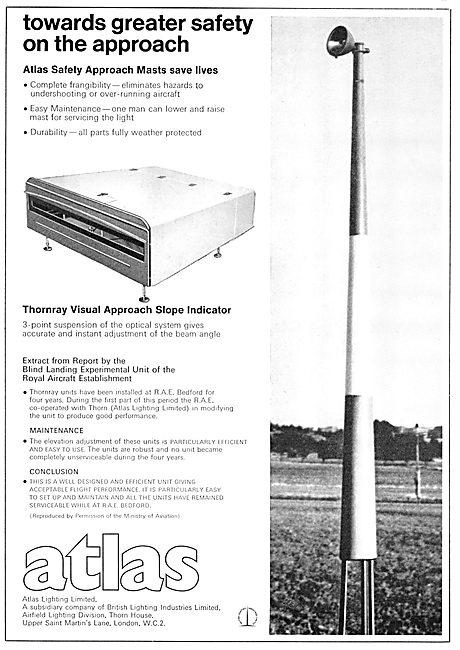 Atlas Lighting. Visual Approach Slope Indicator. VASI 1965