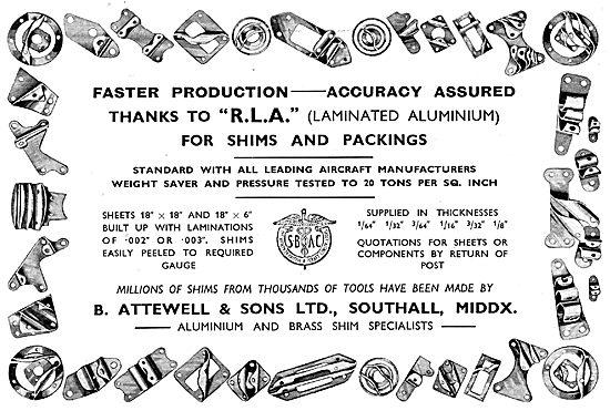 B.Attewell Laminated Aluminium Shims & Spacers