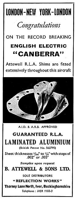B.Attewell RLA Laminated Aluminium Shims & Spacers