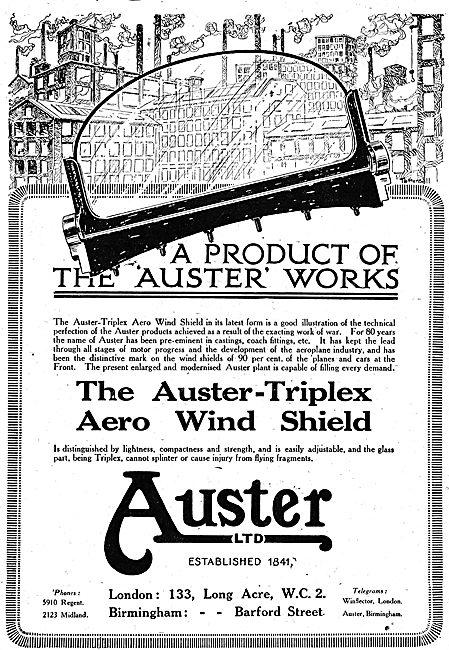 Auster-Triplex  Aircraft Wind Shields