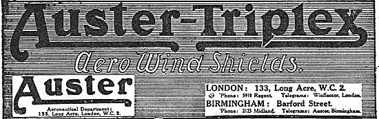 Auster-Triplex  Aero Wind Shields: Barford St, Birmingham