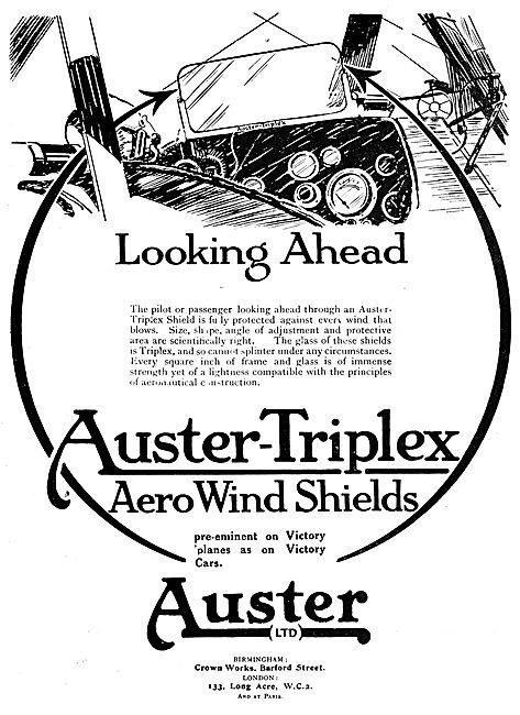 Auster-Triplex Aircraft Windshields 1919