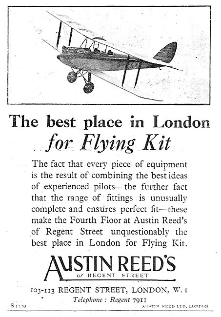 Austin Reed's Of Regent Street For Flying Kit