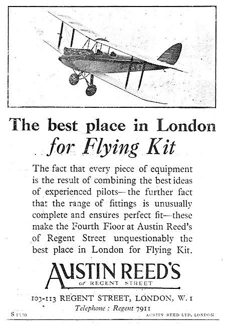 Austin Reed's Of Regent Street For Flying Kit