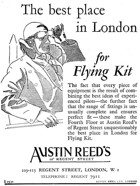 Austin Reed's Flying Kit 1930