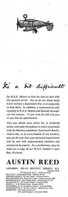 Austin Reed's Of Regent Street For RAF Officers Uniforms