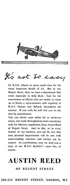 Austin Reed's Of Regent Street For RAF Officers Uniforms