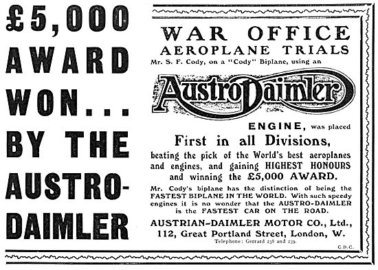 Austrian-Daimler Motor Company - Cody Biplane 1912
