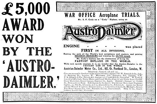 Austrian-Daimler Motor Company. Aero Engines