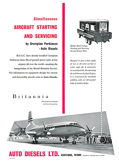 Auto Diesels Ground Power Units For BOAC Britannias