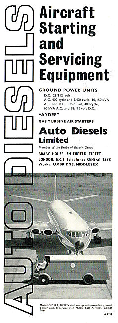 Auto Diesels Aircraft Starting & Servicing Equipment