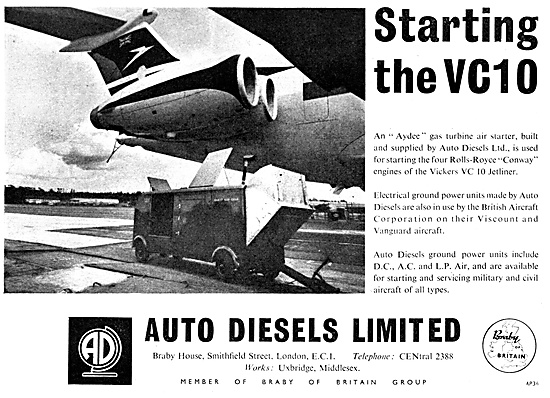 Auto Diesels Ground Power Units. Aircraft Starters