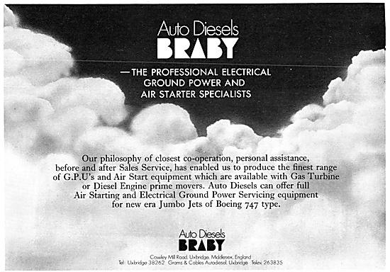 Auto Diesels Braby Ground Power Units & Air Starters 1970