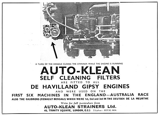 Auto-Klean Self Cleaning Oil Filters 1934