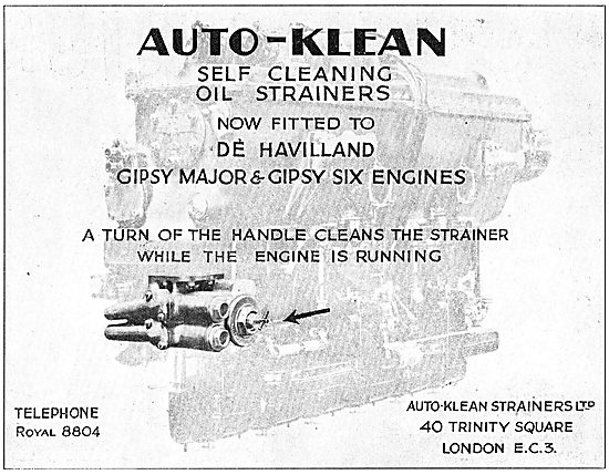 Auto-Klean Self Cleaning Oil Strainer - Standard On Gipsy Engines