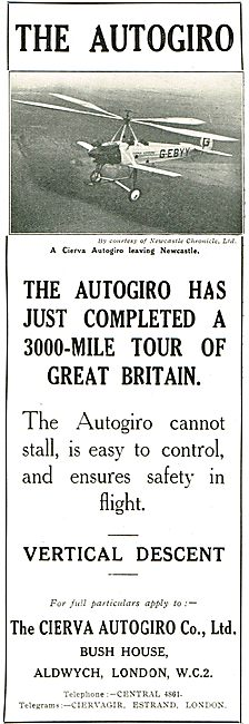 The Autogiro Has Just Completed A 3000 Mile Tour Of Great Britain