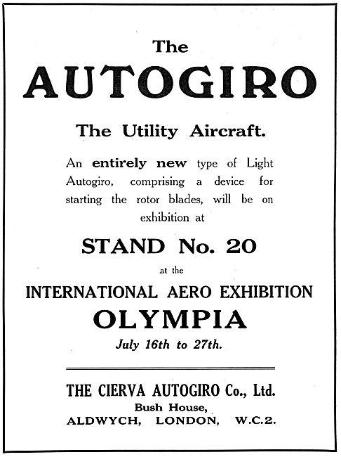 Cierva Autogiro 1924