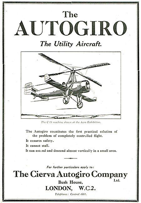 Cierva Autogiro C19