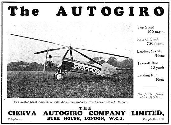 Cierva Autogiro - G-ABCK