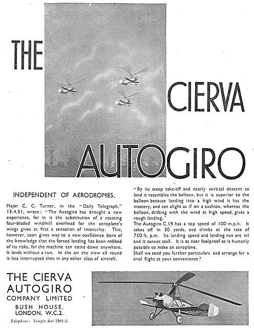 Cierva Autogiros - Independent Of Aerodromes