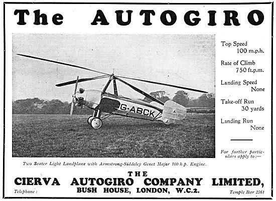 Cierva Autogiro - Genet Major: G-ABCK
