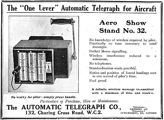 The Automatic Telegraph Co Aircraft Morse Transmitter