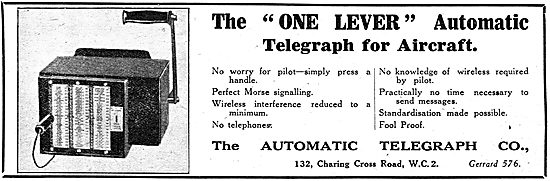 The Automatic Telegraph  - One Lever Telegraph For Aircraft