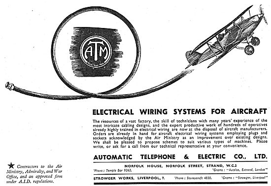 The Automatic Telephone & Electric Co: Wiring For Aircraft