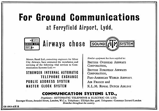 The Automatic Telephone & Electric Co: Ground Comms Systems