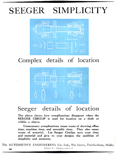 Automotive Engineering Co - Seeger Patent Circlips