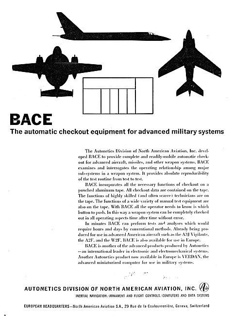 North American Aviation  Autonetics BACE Weapons Checkout Syste