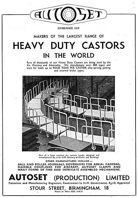 Autoset Heavy Duty Castors 1943