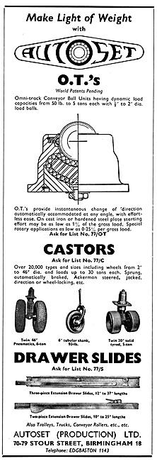 Autoset Castors & Conveyer Belt Equipment