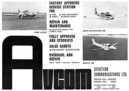 Avcom Biggin Hill. Avionics Sales & Service 1967