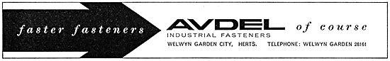 Aviation Developments. Avdel Fasteners