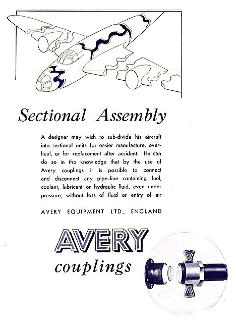 Avery Pipeline Couplings For Sectional Assembly