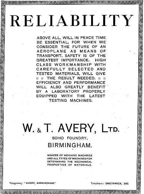 Avery Weighing Machines - 1918 Advert