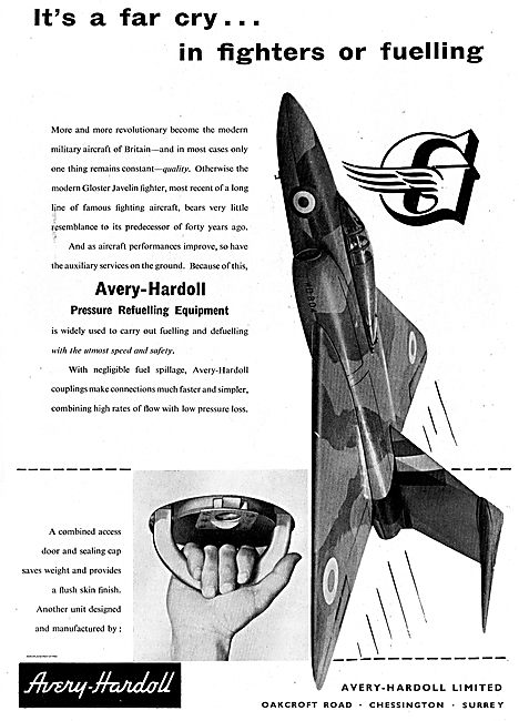 Avery-Hardoll Pressure Refuelling Equipment For Aircraft