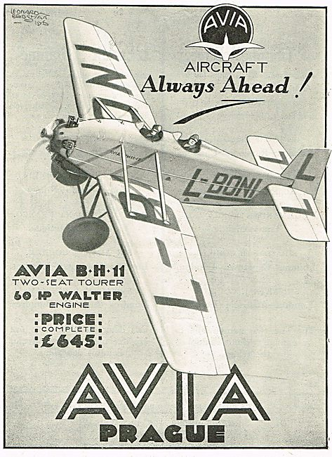Avia BH11 Two Seat Tourer - 60HP Walter Engine