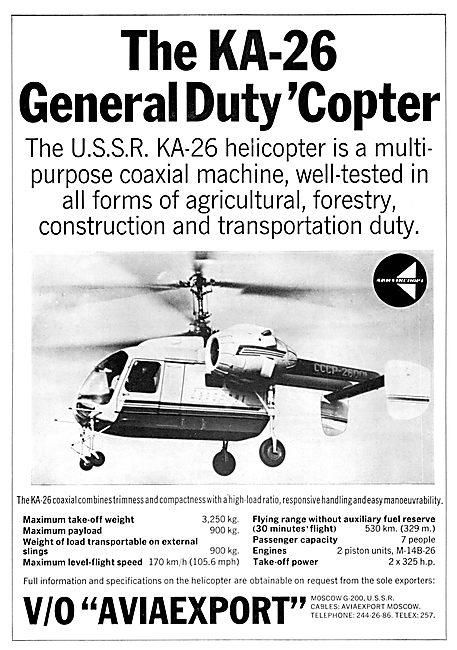 Aviaexport  USSR KA-26 Helicopter